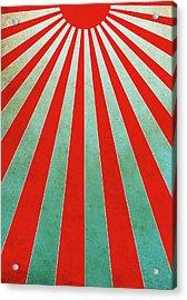 Red Sunbeams Illustration Acrylic Print
