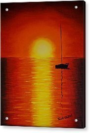 Red Sunset 1 Acrylic Print by Tina Stoffel