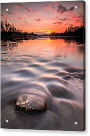 Red Sunset Acrylic Print by Davorin Mance