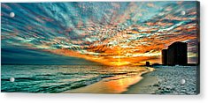 Red Sunset Acrylic Print by Eszra Tanner