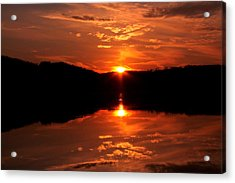 Red Sunset Acrylic Print by Jose Lopez