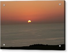 Red Sunset Over Sea Acrylic Print by Gordon Auld