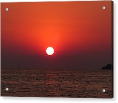 Playa La Ropa Sunset Acrylic Print
