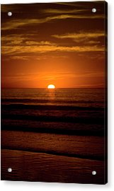 Red Sunset Acrylic Print by Terry Thomas