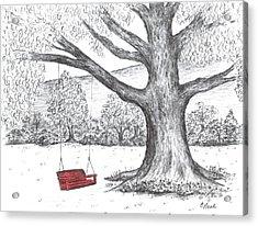 Red Swing Acrylic Print