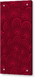 Red Swirls Acrylic Print by Frank Tschakert