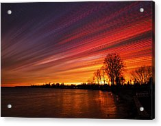 Red Swoosh Acrylic Print by Matt Molloy