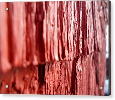 Red Texture Acrylic Print by Jenna Mengersen