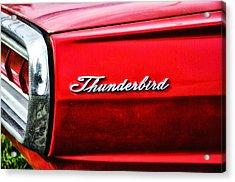 Red Thunderbird Acrylic Print by Bill Cannon
