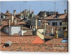 Red Tiled Roofs From Doges Palace Acrylic Print