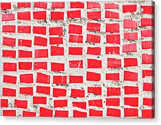 Red Tiles Acrylic Print by Tom Gowanlock