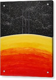 Red To Yellow Spacescape Acrylic Print