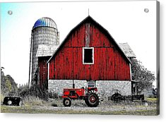 Red Tractor - Canada Acrylic Print