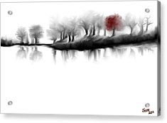 Red Tree Acrylic Print by Jessica Wright