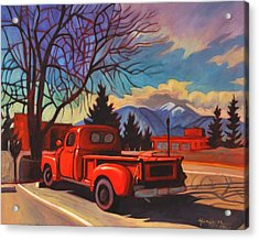 Acrylic Print featuring the painting Red Truck by Art James West