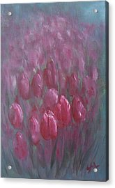 Red Tulips Acrylic Print by Jane  See