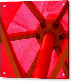 Red Umbrella Acrylic Print by Art Block Collections