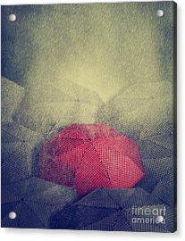 Red Umbrella Acrylic Print by Jelena Jovanovic
