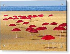 Red Umbrellas Acrylic Print