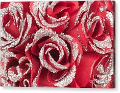 Acrylic Print featuring the photograph Red Valentines Day Roses by Gunter Nezhoda