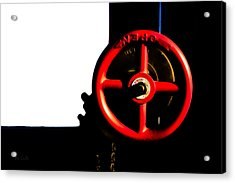 Red Valve  Acrylic Print by Bob Orsillo