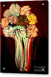 Acrylic Print featuring the painting Red Vase 7 by Bill OConnor