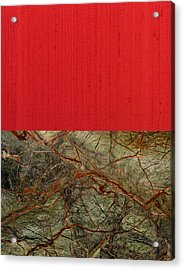Red Veins Acrylic Print by Margaret Ivory