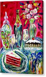 Red Velvet Cake Acrylic Print by Cynthia Hudson