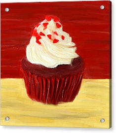 Red Velvet Acrylic Print by Lourry Legarde