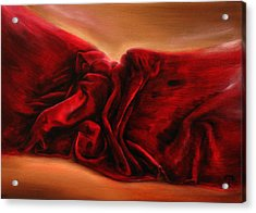 Red Velvet Acrylic Print by Tanya Byrd