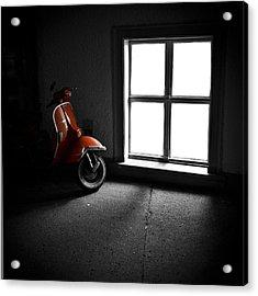 Red Vespa Acrylic Print