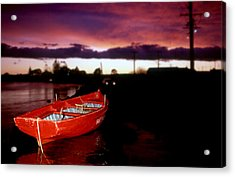 Red Vessel Acrylic Print