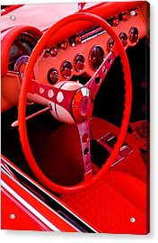 Red Vette Acrylic Print by Phil 'motography' Clark