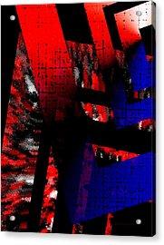 Red Vs Blue Acrylic Print by Mario Perez