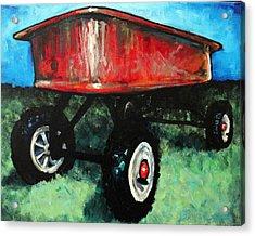 Red Wagon Acrylic Print