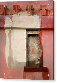 Acrylic Print featuring the painting Red Wall by John Fish