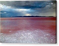 Red Water Acrylic Print by Darryl Wilkinson