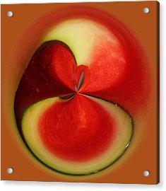 Red Watermelon Acrylic Print by Cynthia Guinn