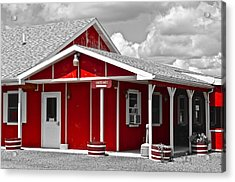 Red White And Black Acrylic Print by Frozen in Time Fine Art Photography