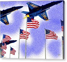 Red White And Blue Angels Acrylic Print by Frank Savarese