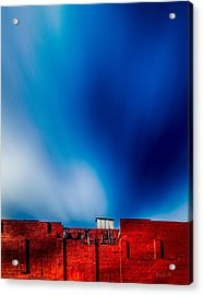 Red White And Blue Acrylic Print by Bob Orsillo