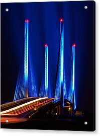 Red White And Blue Indian River Inlet Bridge Acrylic Print