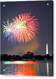 Red White And Blue Over The Potomac Acrylic Print