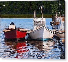 Red White And Blue Acrylic Print by Rick McKinney