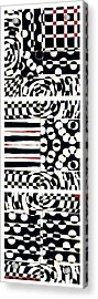 Red White Black Number 4 Acrylic Print by Carol Leigh