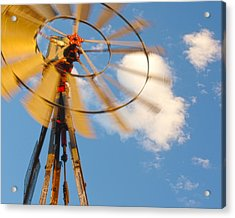 Red Wind Windmill Acrylic Print