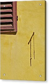 Red Window Shutter Of Tuscany Acrylic Print