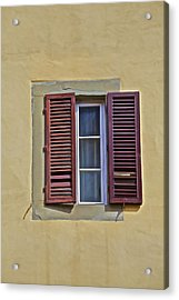 Red Window Shutters Of Florence Acrylic Print