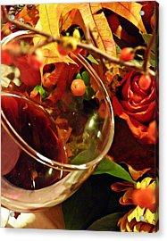 Red Wine 2 Acrylic Print by Sarah Loft