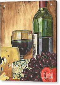 Red Wine And Cheese Acrylic Print